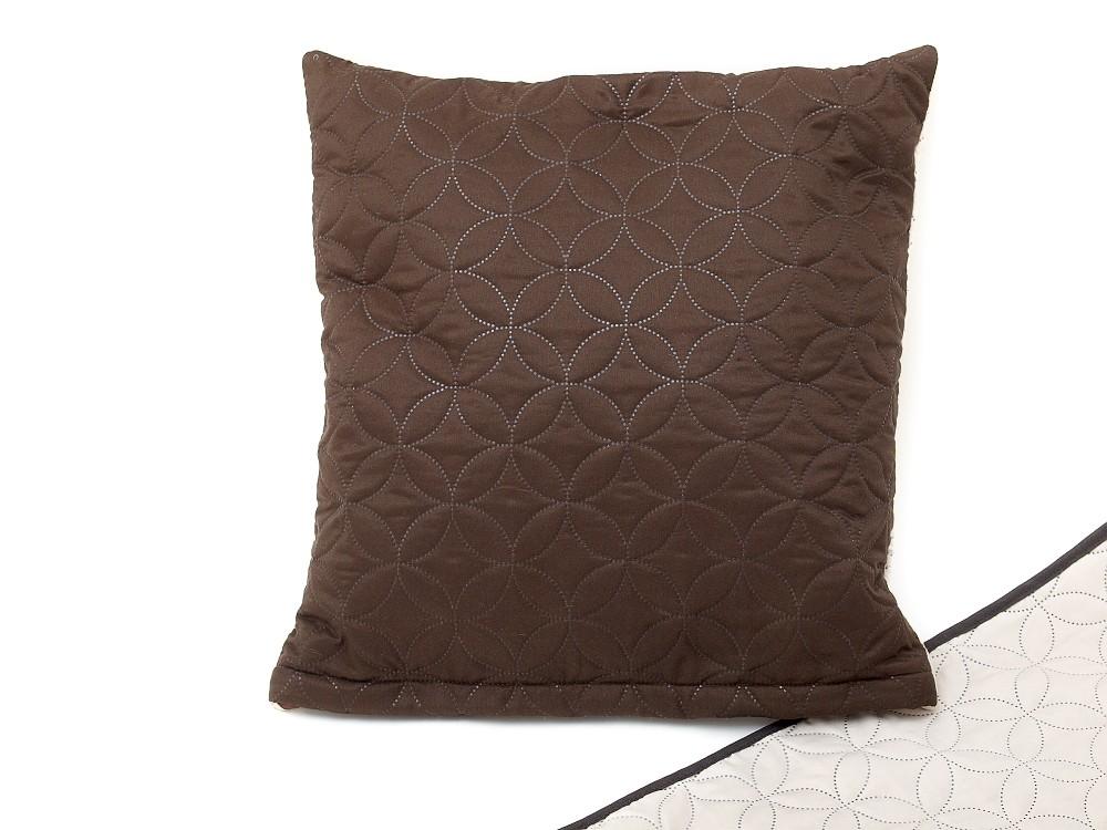 Dekorační polštářek 40x50 cm tmavě hnědý