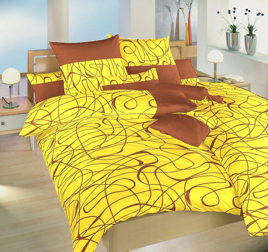Povlečení satén Balerína žlutá 240x200, 2x70x90 cm