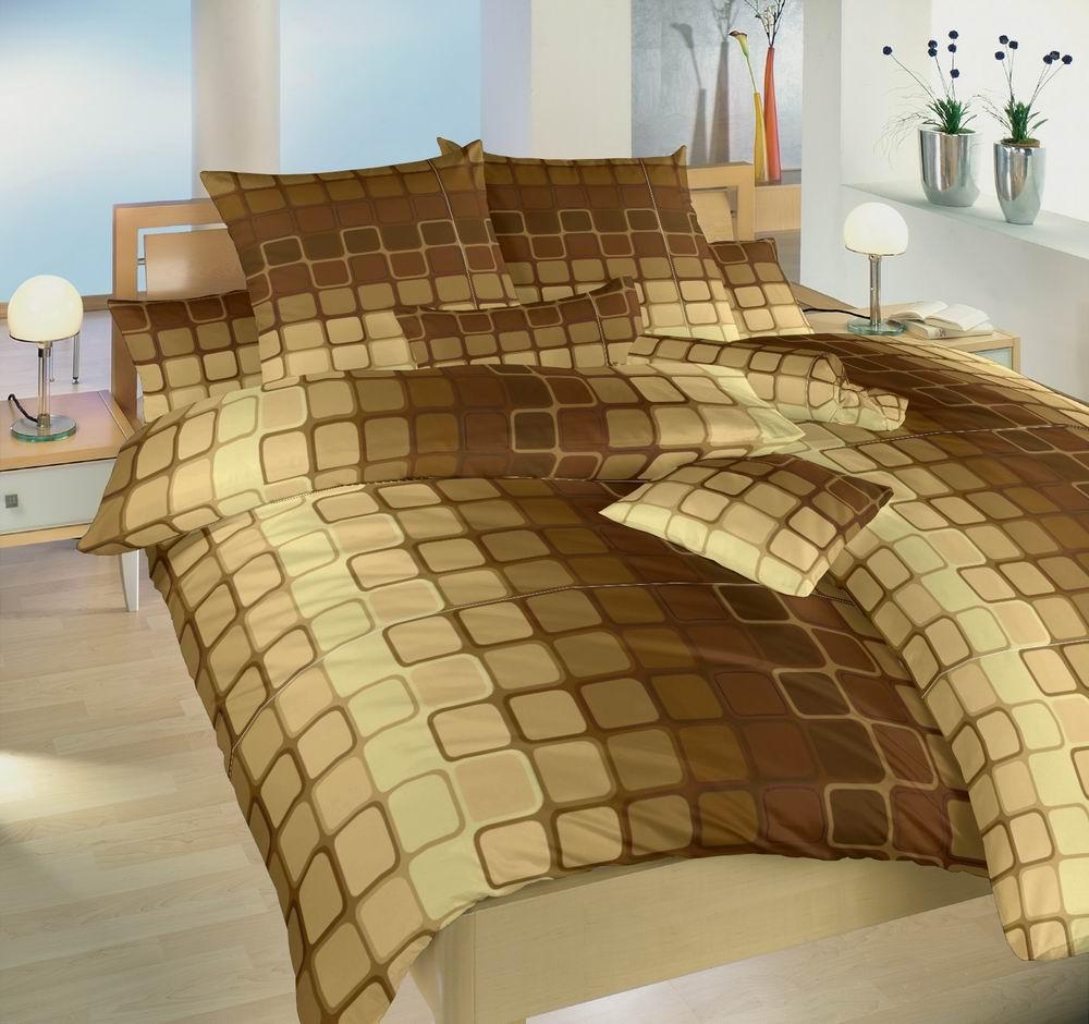 Povlečení bavlna Čokoláda hnědá 140x200, 70x90 cm