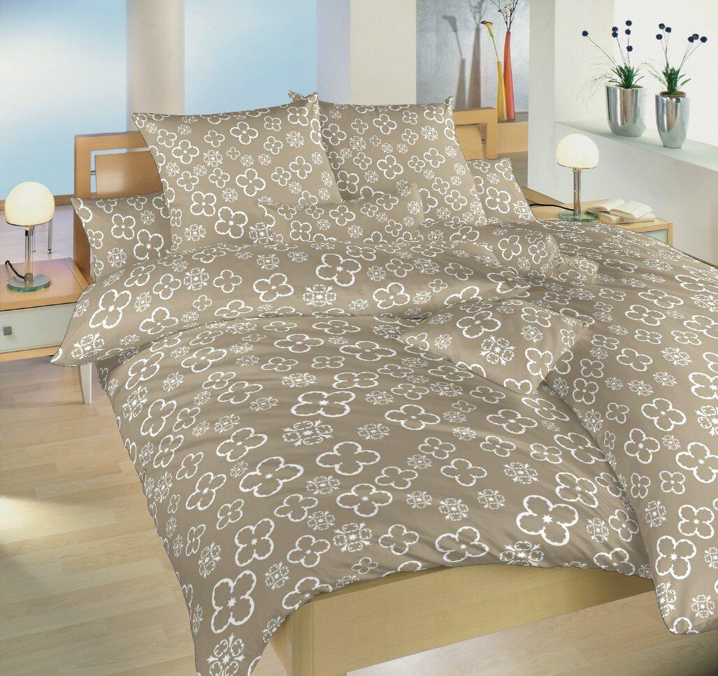 Povlečení bavlna Čtyřlístek bílý 140x200, 70x90 cm