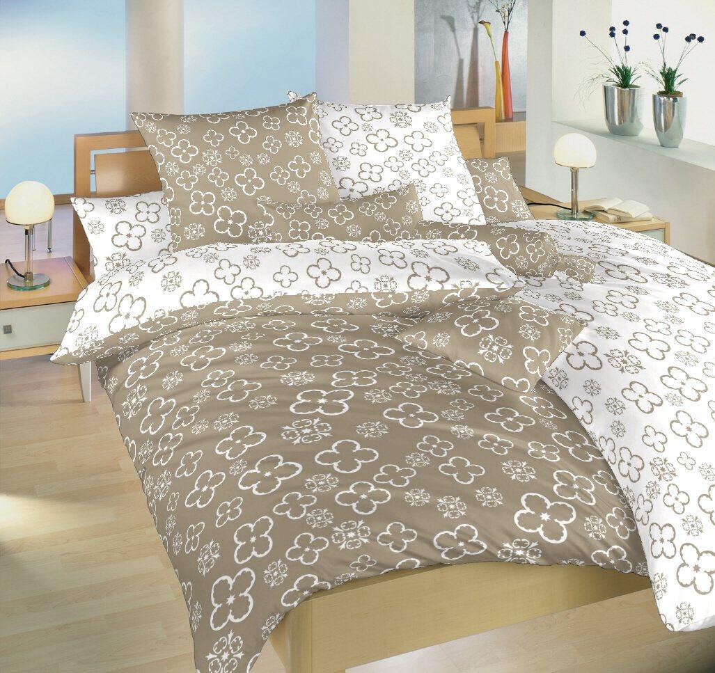 Povlečení bavlna Čtyřlístek bílý/opál DUO 140x200, 70x90 cm