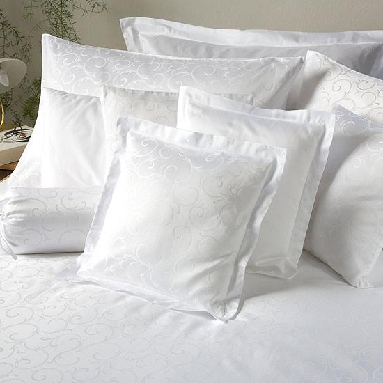 Povlečení damašek Ornella FNR bílá 40x50 cm povlak