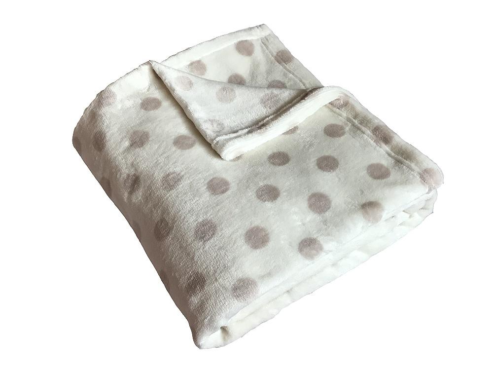 Super soft deka Dadka Puntík béžový/banán 150x200 cm