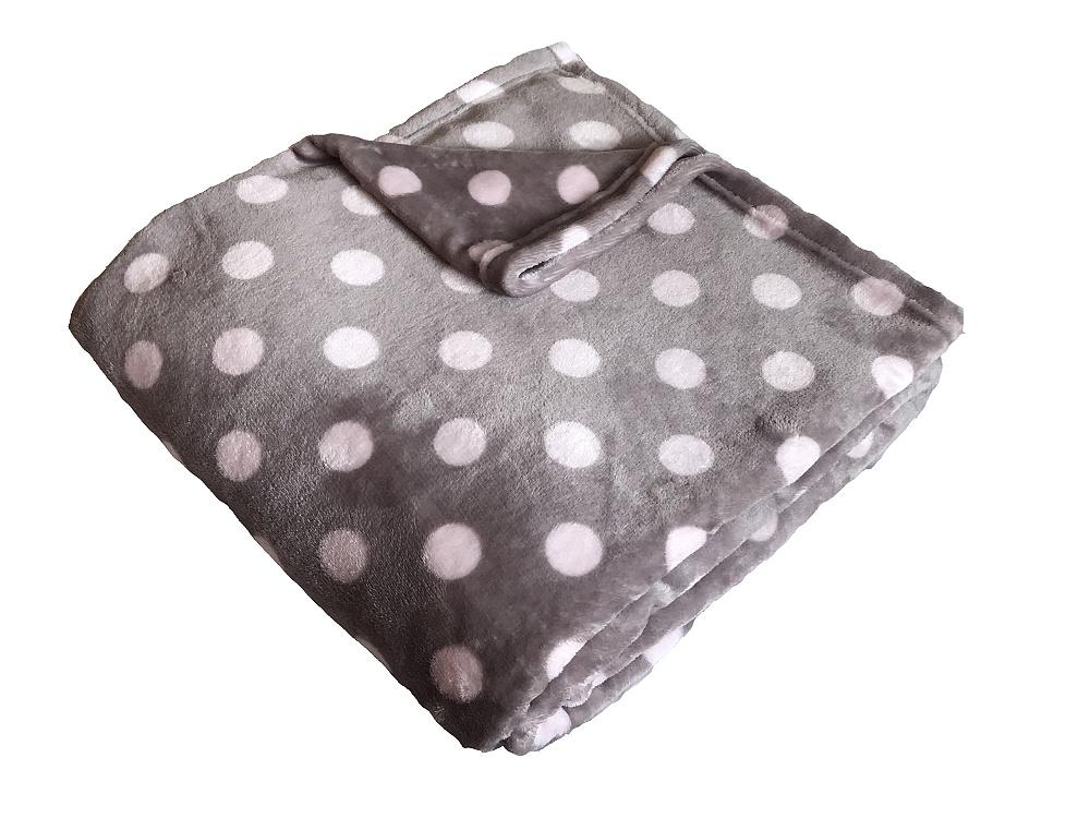 Super soft deka Dadka Puntík růžový/béžová 150x200 cm