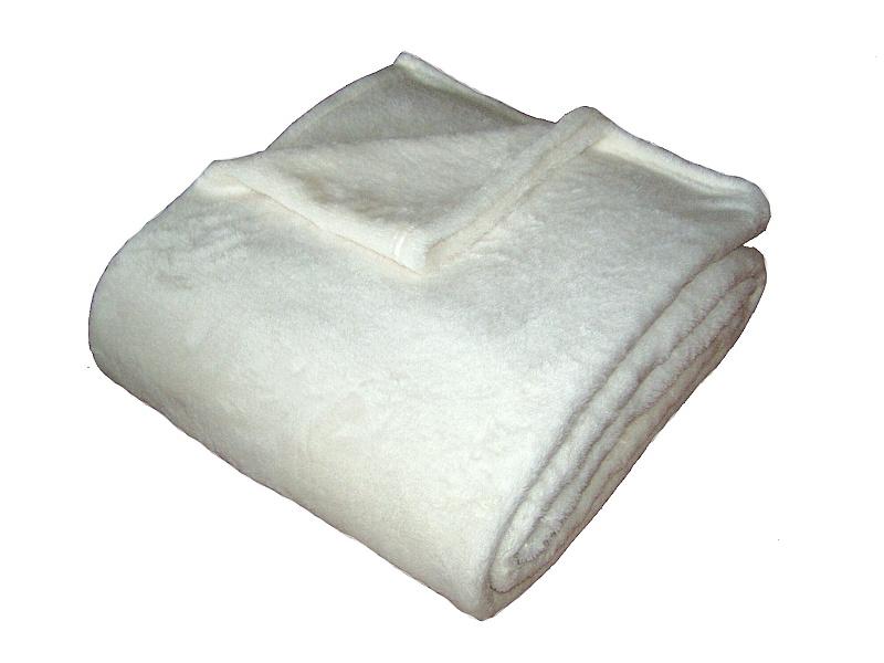 Super soft deka Dadka bílá 150x200 cm