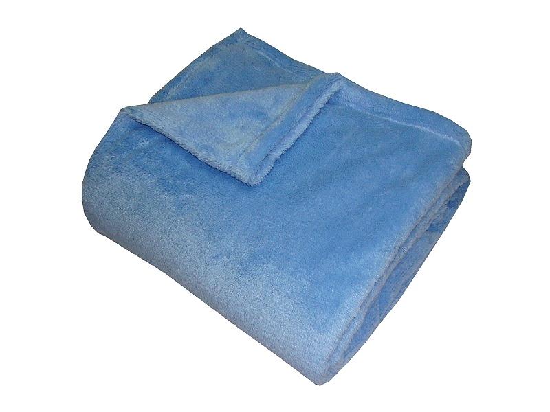 Super soft deka Dadka modrá 150x100 cm