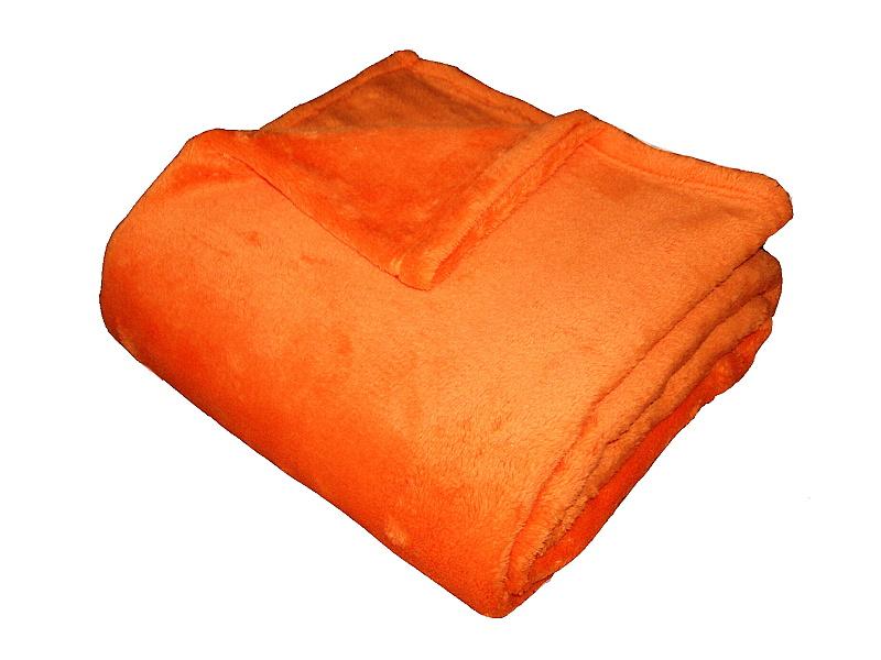 Super soft deka Dadka - oranžová