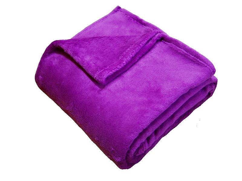 Super soft deka Dadka ostružinová 150x100 cm