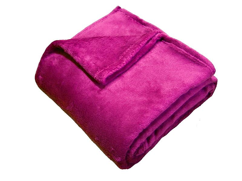 Super soft deka Dadka malinová 150x200 cm