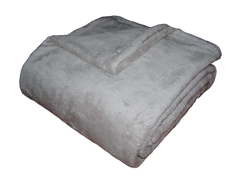 Super soft deka Dadka světle šedá 150x200 cm