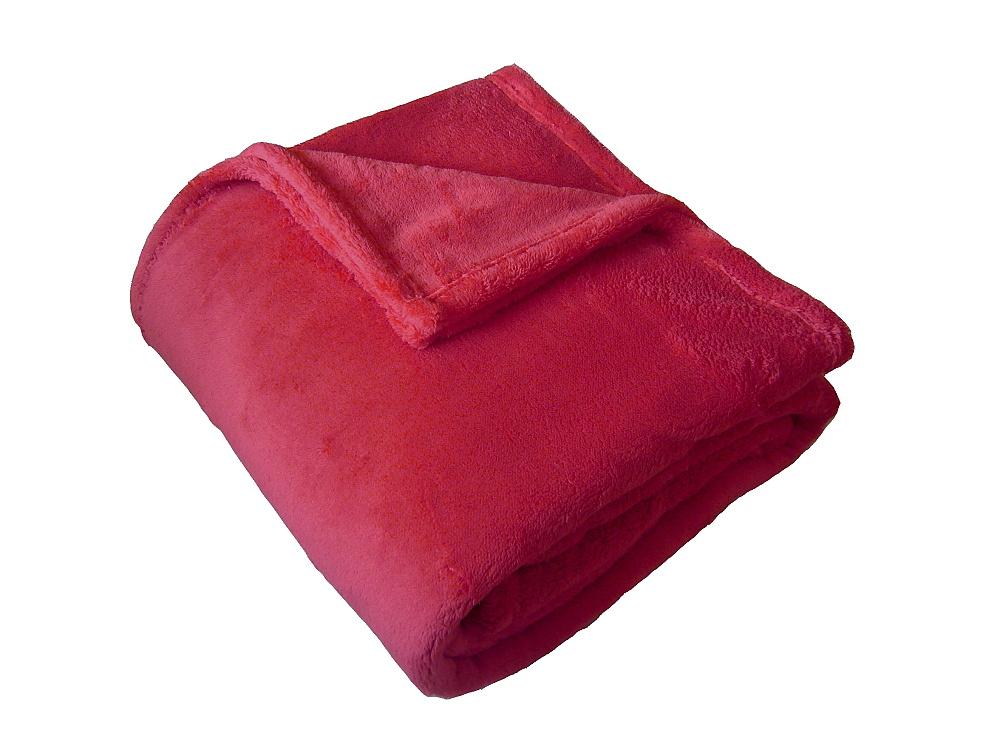 Super soft deka Dadka světle červená 150x200 cm