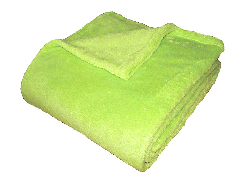 Super soft deka Dadka - světlá kiwi