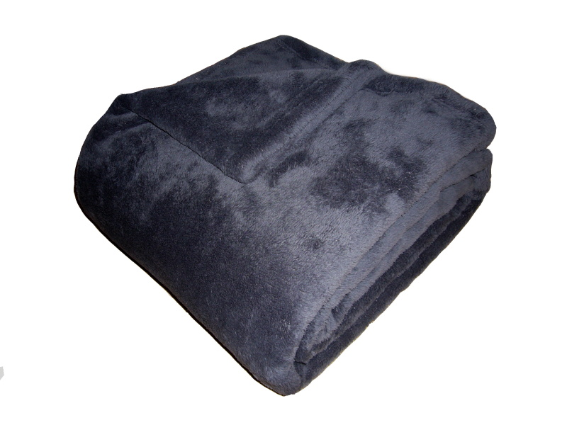 Super soft deka Dadka - tmavě šedá