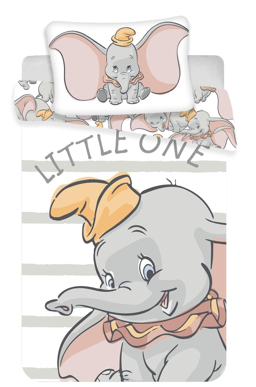 Disney povlečení do postýlky Dumbo baby 100x135, 40x60 cm