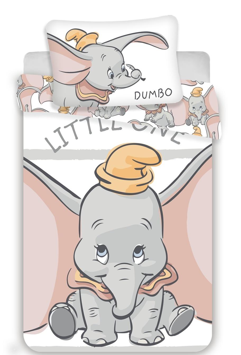 Disney povlečení do postýlky Dumbo stripe baby 100x135, 60x40 cm