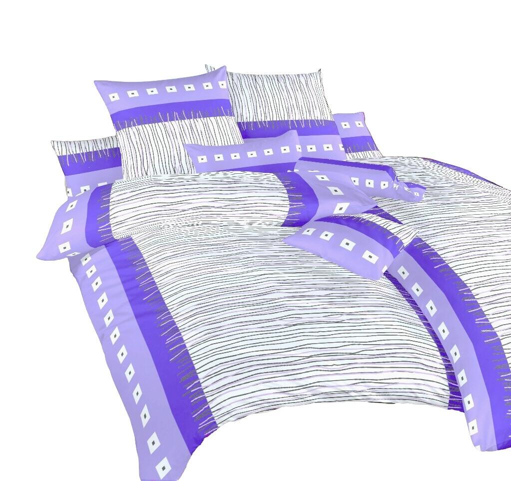 Povlečení krep Fata morgána fialová 140x200, 70x90 cm