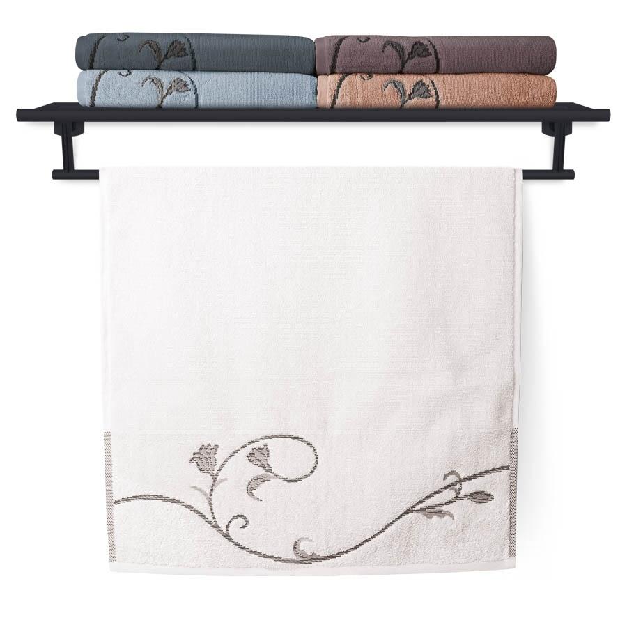 Ručník Terry Floral Dance 036 bílý 50x100 cm
