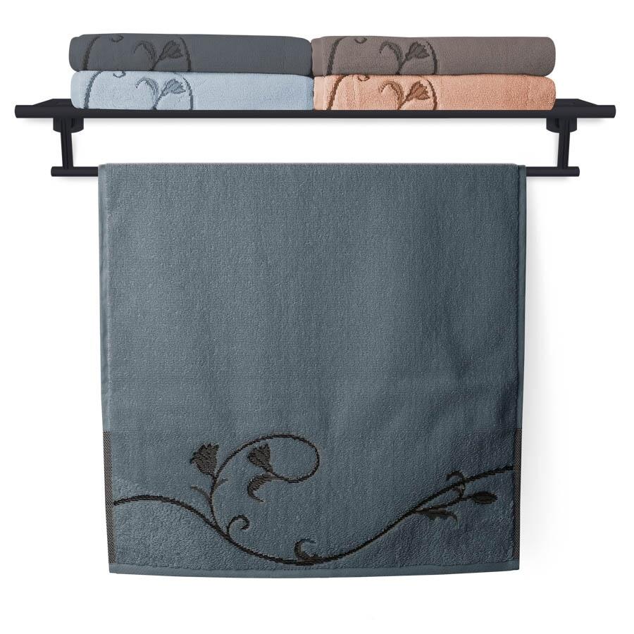 Ručník Terry Floral Dance 036 modrošedý 50x100 cm
