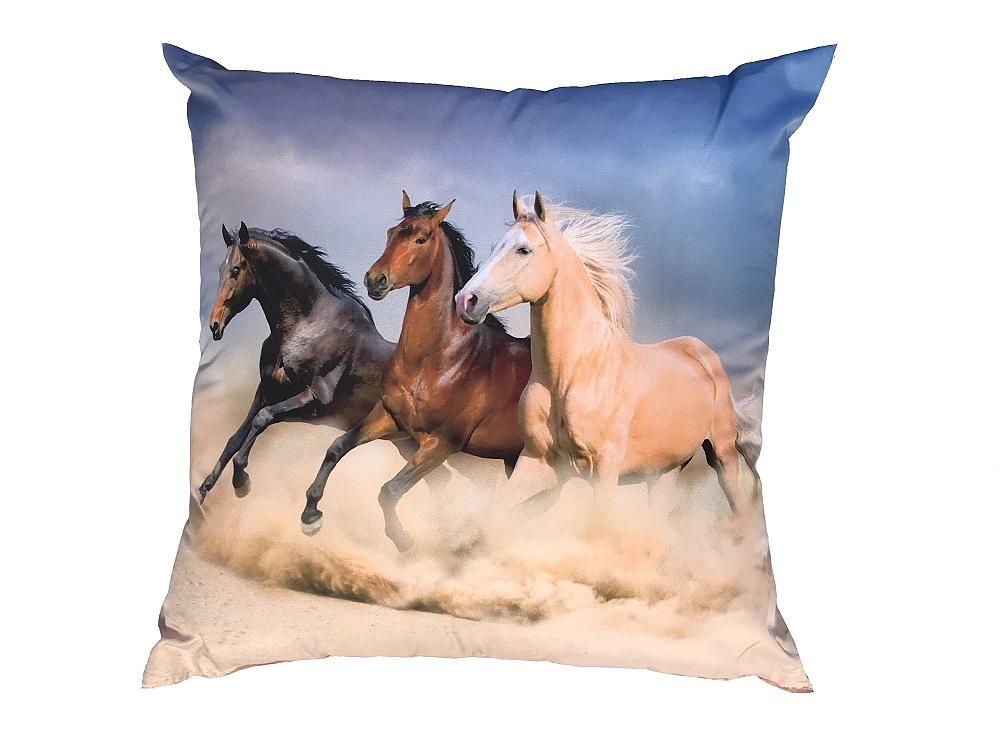 Fotopolštářek Koně na poušti 40x40 cm