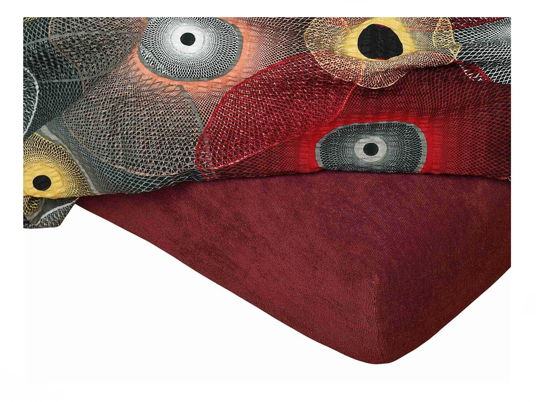 Froté prostěradlo bordó 60x120x10 cm