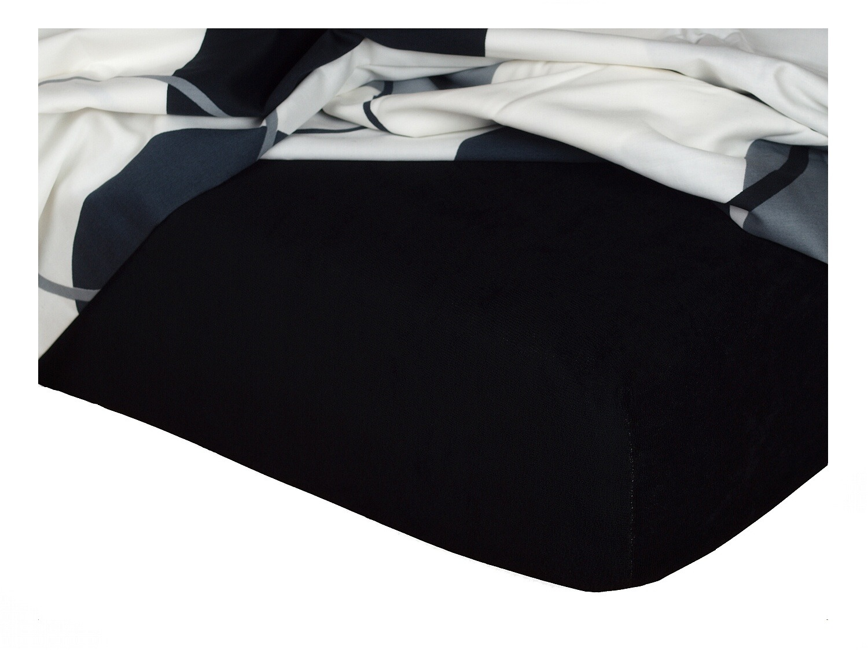 Froté prostěradlo černá 140x200x15 cm