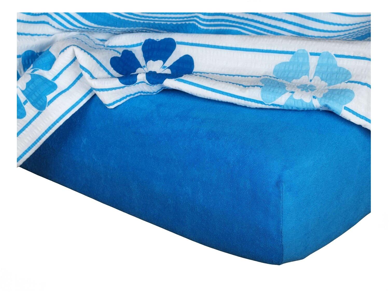 Froté prostěradlo modř královská 180x200x15 cm