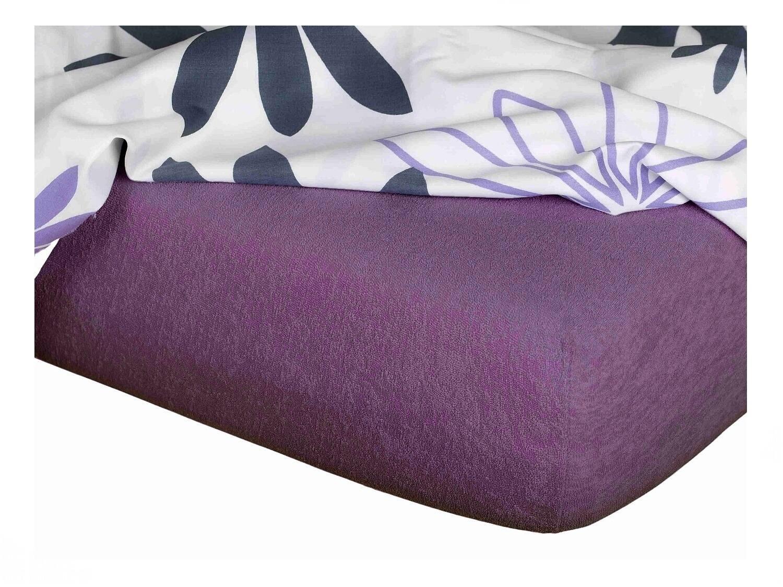 Froté prostěradlo purpur 90x220x15 cm
