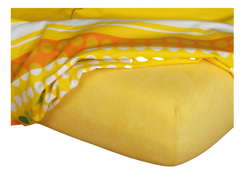 Froté prostěradlo tmavě žlutá 60x120x10 cm