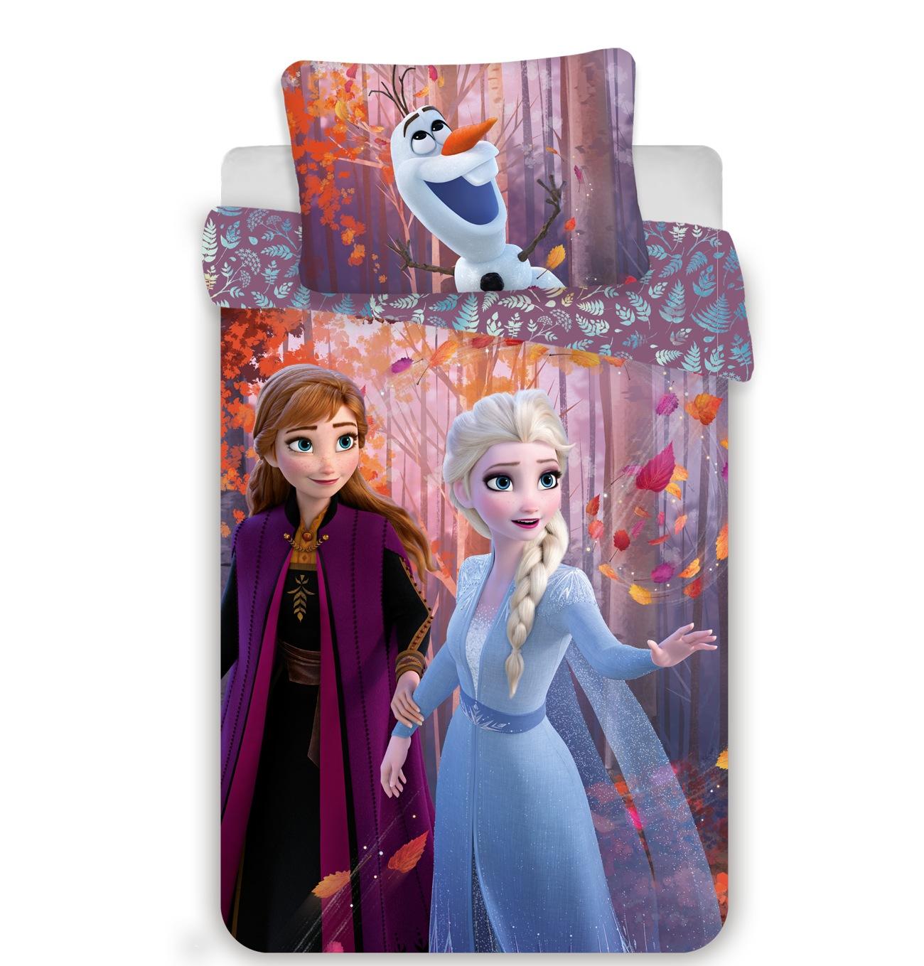 Povlečení Frozen 2 sister purple 140x200, 70x90 cm