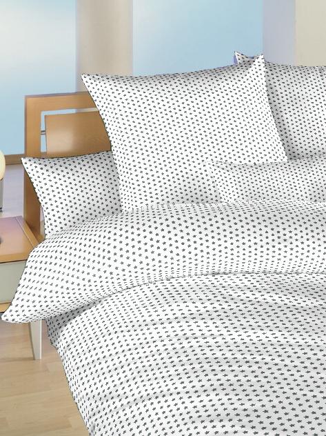 Povlečení bavlna do postýlky Hvězdička šedá na bílém 90x130, 45x60 cm