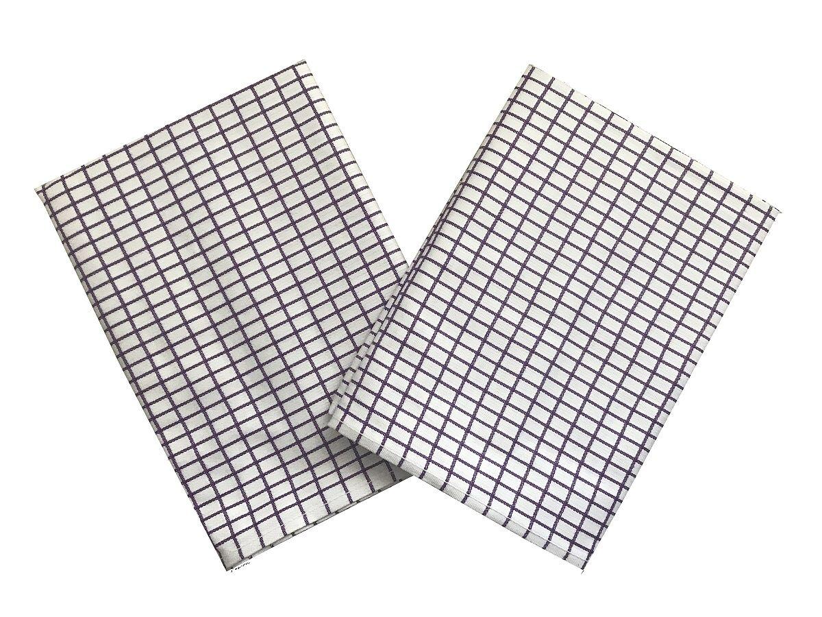 Svitap Utěrka Extra savá 50x70 cm Drobná kostka bílá/fialová 3 ks
