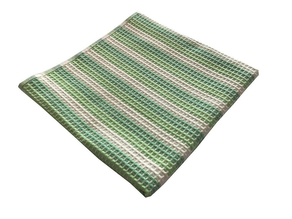 Vaflový ručník 50x100 cm zelený