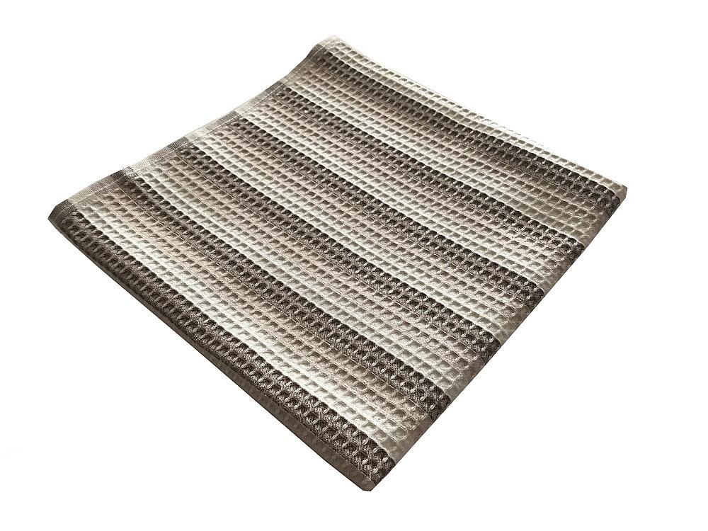 Vaflový ručník 50x100 cm hnědý