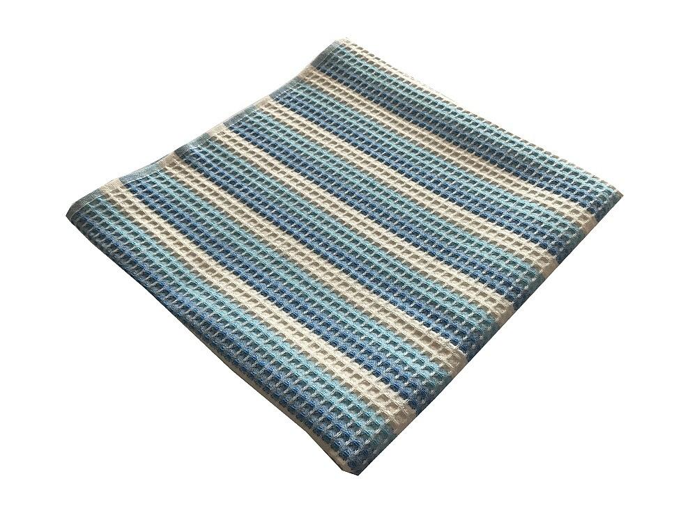 Vaflový ručník 50x100 cm modrý