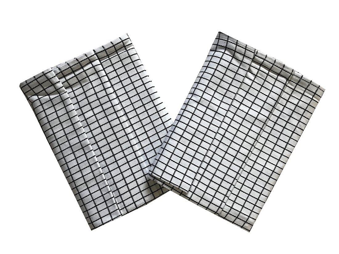 Utěrka Extra savá Drobná kostka bílo/černá 50x70 cm 3 ks