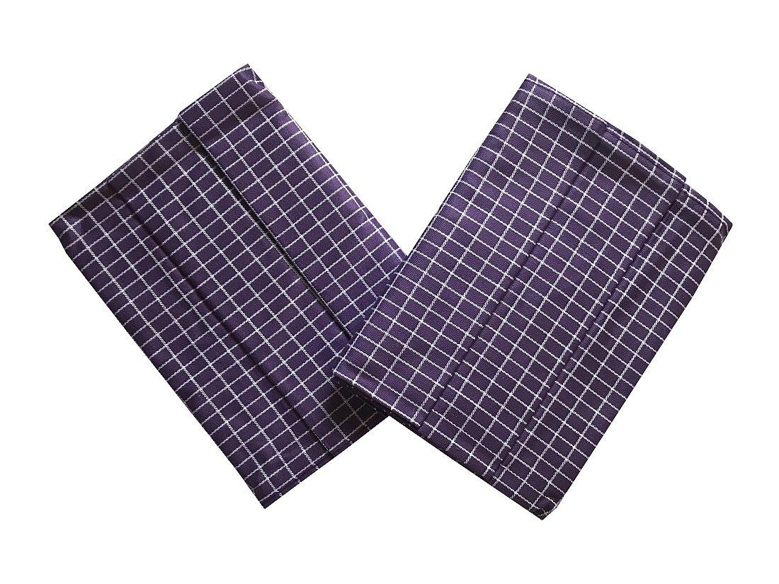 Utěrka Extra savá Drobná kostka fialovo/bílá 50x70 cm 3 ks