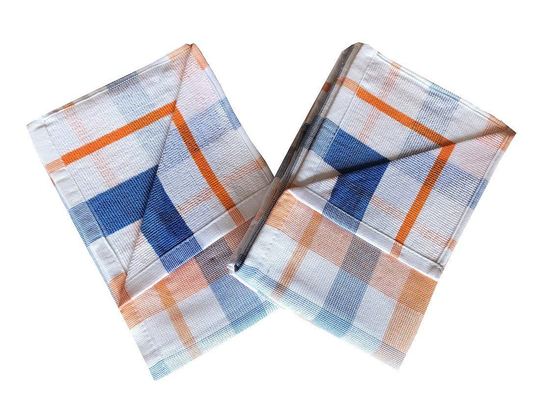Utěrka Froté Káro oranžové 50x70 - 2 ks