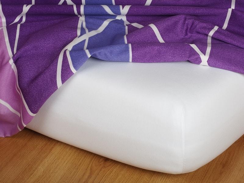 Jersey prostěradlo bílé 80x180x15 cm