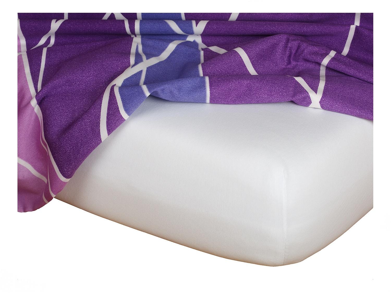 Jersey prostěradlo bílá 90x220x18 cm