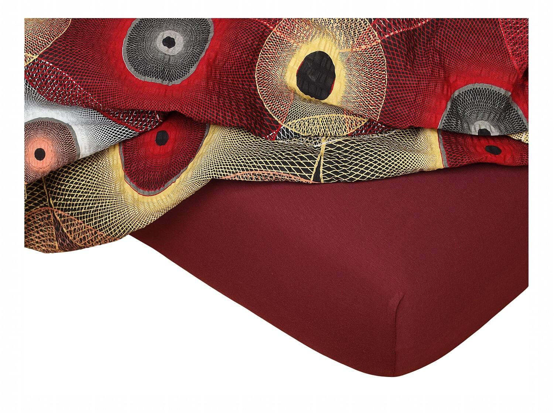 Jersey prostěradlo bordó 140x200x18 cm