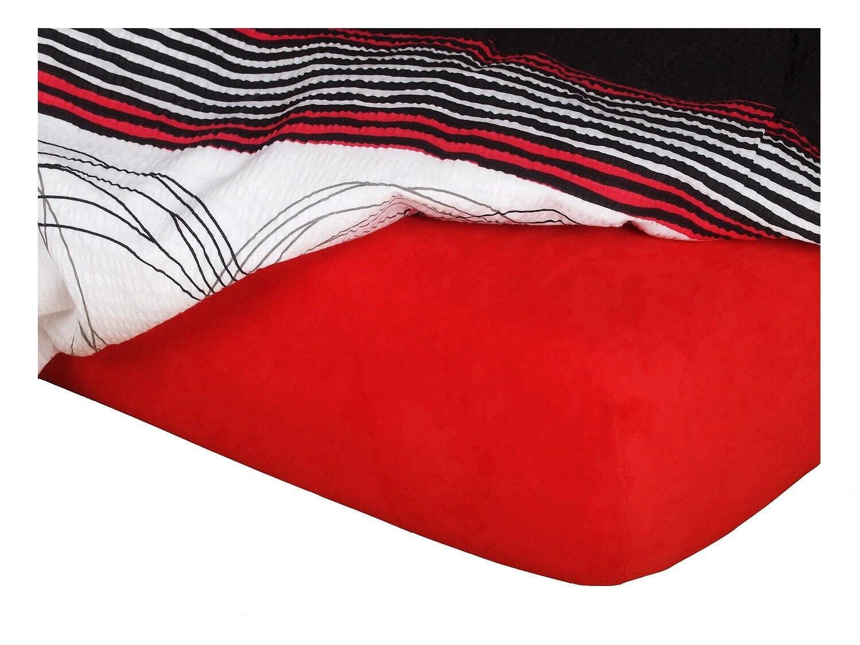 Jersey prostěradlo červená 180x200x18 cm