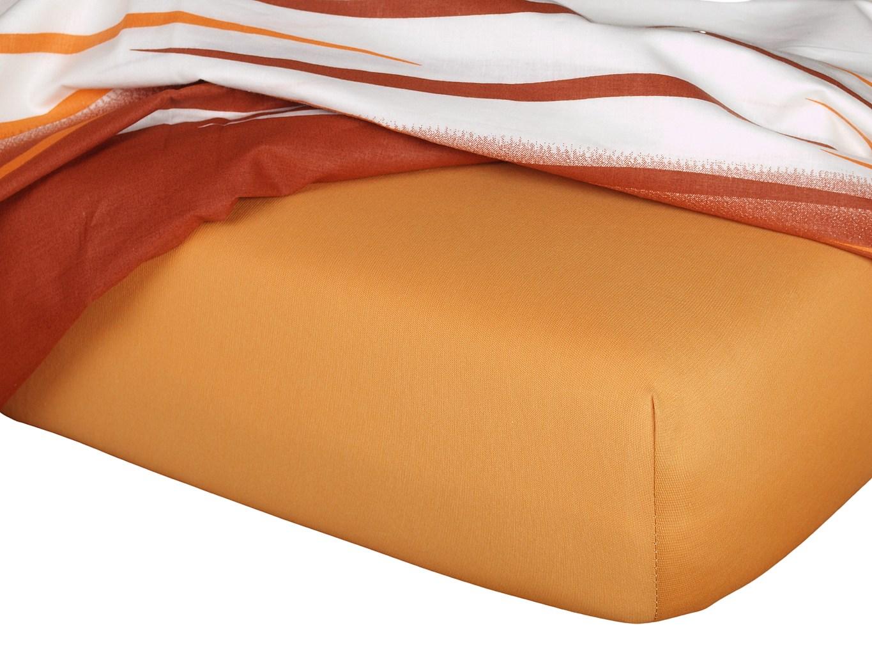 Jersey prostěradlo - karamel B