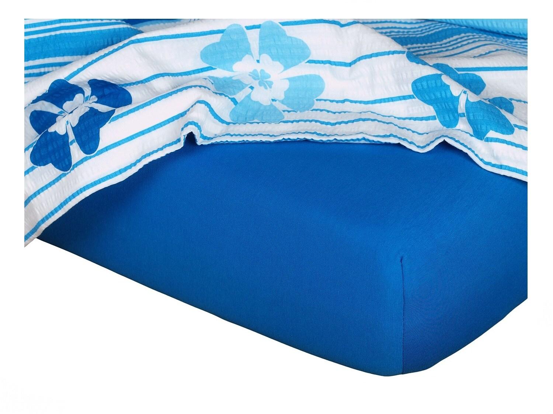 Jersey prostěradlo modř královská 140x200x18 cm