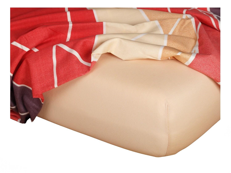 Jersey prostěradlo medová 60x120x10 cm