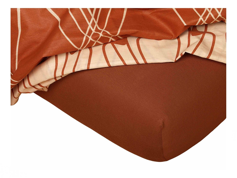 Jersey prostěradlo nugát 60x120x10 cm