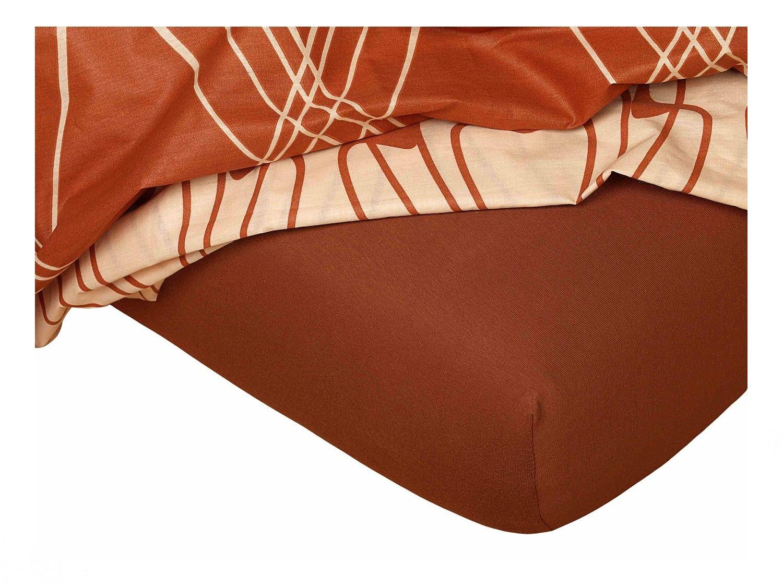 Jersey prostěradlo nugát 200x220x18 cm