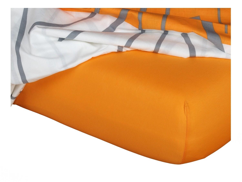 Jersey prostěradlo pomeranč 90x220x18 cm