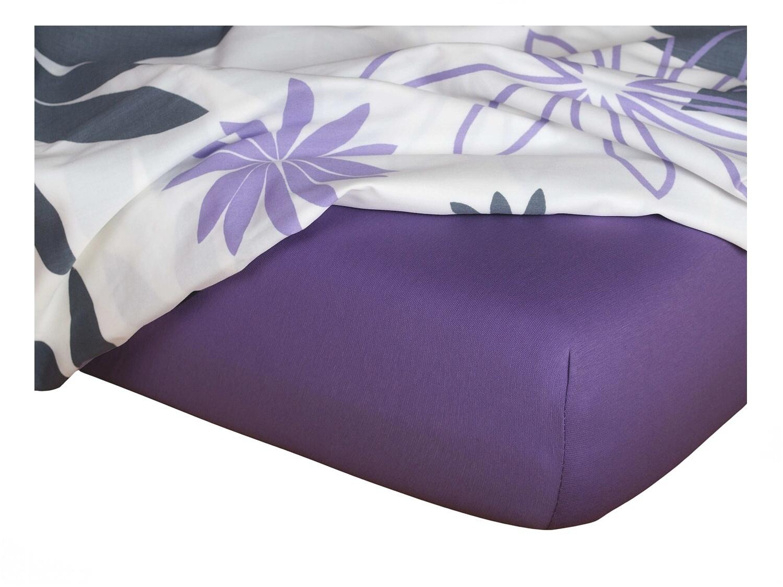 Jersey prostěradlo purpur 140x200x18 cm