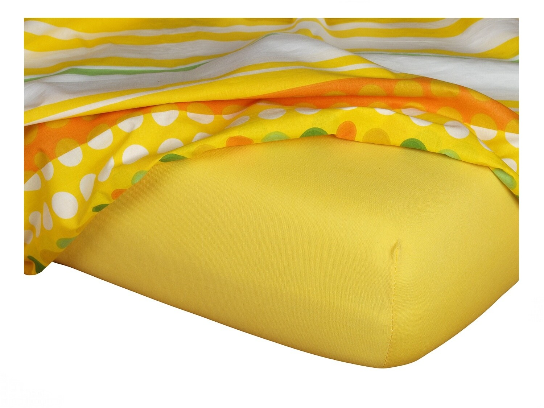 Jersey prostěradlo tmavě žlutá 200x220x18 cm