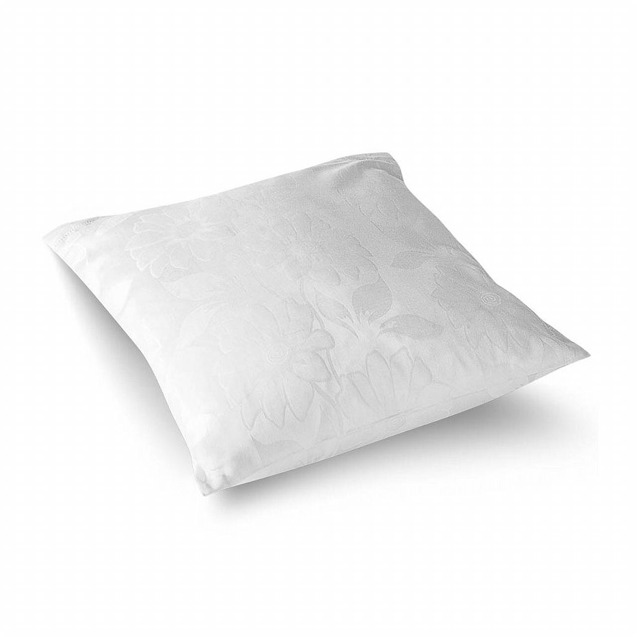 Povlečení damašek Jiřiny bílé 70x90 cm povlak